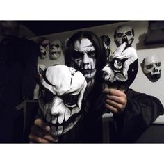 Seregor and his corpse-painted masks