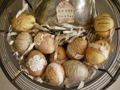 decoupage eggs- lovely!