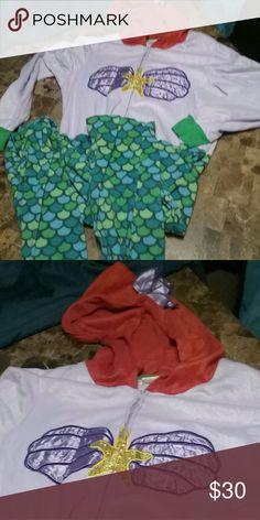 Little mermaid onesie sz XL Little mermaid onesie sz XL Intimates & Sleepwear Pajamas