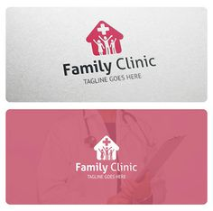 Logo suitable for clinic, medic, hospital, family doctor, polyclinic, treatment center, pharmacy and other related businesses.