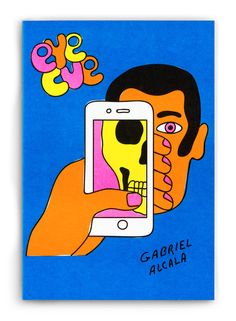 """Eye Cue by Gabriel Alcala  """"Open your eyes to the spectacle of it all!""""  20 Pages  8 Color Riso  Edition of 250  2016  $10  Available now in the Shop"""