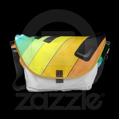 Keyboard Music Party Colors Messenger Bag © Bluedarkat - on Zazzle!