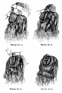 DIY 1890 hairstyles and combs