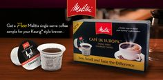 Free Melitta Coffee Sample (Select States Only)