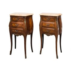 Louis XV-style Bombe Commode(s) or Night Tables