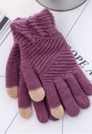 Cheapest Gloves New Arrival Winter Style for Touch Screen Separated Fingers Knitted Fleece Keep Warm Unisex Gloves