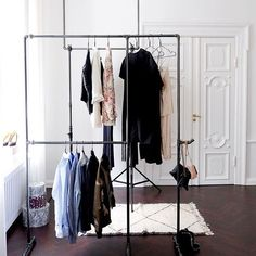 4a9fcc66e51a Get the perfect overview of your wardrobe with  rackbuddywildbillelliot   rackbuddy  clothesrack  industrialinterior