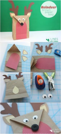 DIY Adorable Christmas gift wrapping: Reindeer bag.....25 Adorable and Creative DIY Gift Wrapping Ideas for All Occasions #DIYCrafts