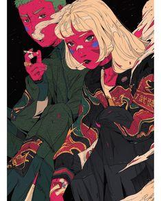 Likes, 19 Kommentare - Chien . - Anime Worlds Kunst Inspo, Art Inspo, Trippy Drawings, Art Drawings, Art And Illustration, Dope Kunst, Cyberpunk Kunst, Dope Art, Grafik Design
