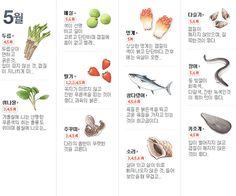 사계절 제철 음식 사계절 제철 음식 봄 - 각종 나물. 시금치, 달래, 냉이, 더덕, 씀바귀, 고비, 머위, 도라... Cooking Tips, Cooking Recipes, Healthy Recipes, Seasonal Food, Survival Food, Food Categories, Korean Food, Food Design, Food Plating