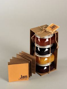 25 Sweet Jam Jar Labels & Packaging Design Ideas Through the years as packaging design has evolved it has kept the essence of the jam bottle and has also given new directions of creativity and innovation. Honey Packaging, Cool Packaging, Food Packaging Design, Bottle Packaging, Brand Packaging, Gift Packaging, Packaging Ideas, Innovative Packaging, Chocolate Packaging