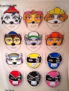 Paw patrol face painting | face paint paw patrol | Pinterest | Paw ...