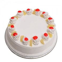 in A delightful all-time favourite pineapple cake with delicious icing and cherry on the top.Wish them a Happy Birthday or delight them on any occasion when you send our Pineapple Cake. Weight - 500 gm ₹ & 1 kg ₹ . Order Birthday Cake Online, Order Cakes Online, Cake Home Delivery, Online Cake Delivery, Free Delivery, Buy Cake, Cake Shop, Eggless Pineapple Cake, Bachelor Party Cakes