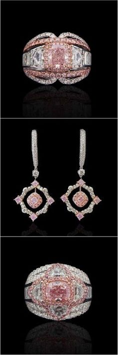 Exceptional Rare Fancy-Pink Diamond Jewelry @novelcollection