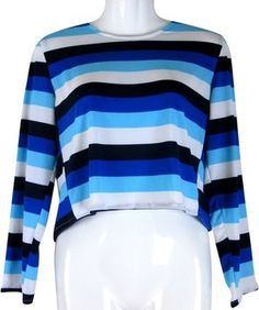 Lisa Nieves Royal Blue/navy Blue/turquoise/white Top