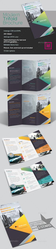 Business Trifold Brochure - #Brochures Print Templates Download here:  https://graphicriver.net/item/business-trifold-brochure/20212166?ref=alena994
