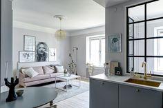 Glass bedroom wall -