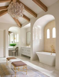 Love that alcove tub stand covered in subway tile. Seneca - Tatum Brown Custom Homes (Dallas, Texas) also like makeup alcove Home Design, Home Interior Design, Interior Decorating, Decorating Bathrooms, Design Ideas, Decorating Ideas, Bad Inspiration, Bathroom Inspiration, Dream Bathrooms