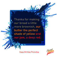 Our way of expressing thanks to Photoshop on its birthday.