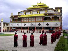 Spread of Buddhism - Buddhist monasteries were found along the path between India and China http://www.buddha101.com/h_spread.htm
