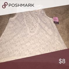 Adorable lace top - with tags attached Adorable lace sleeveless top love on a hanger Tops Tank Tops