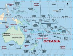 Image result for south pacific islands map with philippines and Indonesia