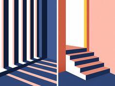 Light & Shadow by kawen #Design Popular #Dribbble #shots