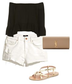 Sin título #28 by luckylucky7 on Polyvore featuring polyvore, Belleza, Yves Saint Laurent, Topshop, H&M and Ancient Greek Sandals