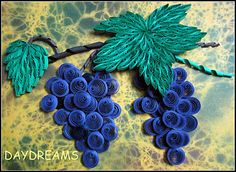 Quilled Grape Vine