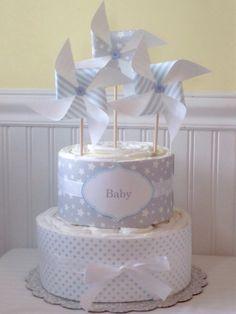 Baby Boy or Girl or Gender Neutral Pinwheel Diaper by LaurasCraft