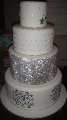 Now THAT'S a blinged out wedding cake
