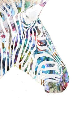 Zebra Art Print by NKlein Design | Society6