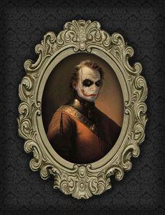 Like a Sir: Joker by Berk Senturk.    Creepy, but so cool...