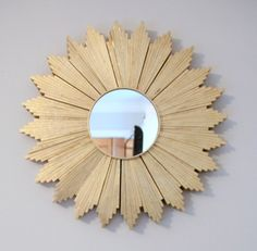 DIY Sunburst mirror made from wood shims!