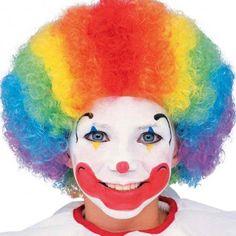 Kids Rainbow Clown Wig