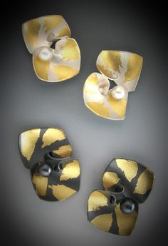 Earrings by Judith Neugebauer - Her forms are so simple - Keum Boo