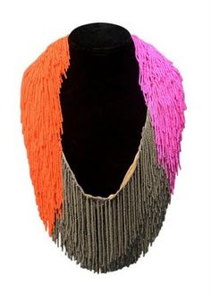 bead strand necklace - I love fringe and beads ... but this is a bit much ... maybe as a belt???