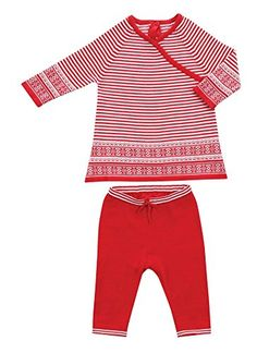 Angel Dear 2 Piece Christmas Red Stripe Dress Sweater Gift Set Outfit, Baby Girls', Let it Snow (3-6 Months) * Find out @ http://www.amazon.com/gp/product/B018T01RAE/?tag=christmas3638-20&puv=031016231727