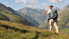 The stunning views across Mont Blanc with trekkers