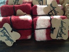 Felted Goat's Milk Soap by MilkandBubbles on Etsy
