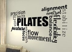 Pilates Huge XXL Motivational wall quote wall decal words