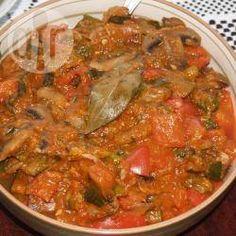 Фото рецепта: Овощное рагу из кабачков с грибами