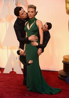 John Travolta was all over Scarlett Johansson on the red carpet last night.