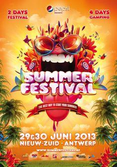 summer festival poster - Google zoeken