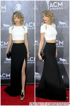 Cropped cut lob with loose waves // crop top // Taylor Swift