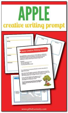 Apple Creative Writing | Creative writing prompt focused on the literary device of personification | Includes three optional planning worksheets to help learners think through their story before they begin to write | #freeprintable #fall || Gift of Curiosity Free Worksheets For Kids, Free Printable Worksheets, Free Printables, Creative Writing Prompts, First Site, Creative Thinking, Toddler Preschool, Curiosity, Literacy