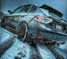 Subaru STI doing what it does best