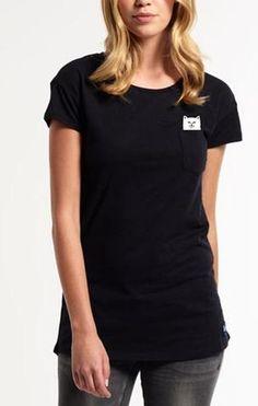 Cheeky cat - cats hidden middle finger black girls t-shirt 4cab796f49aa7