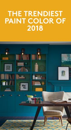 The Trendiest Paint Color of 2018 | Get your brushes ready, it's time to paint the town in this gorgeous shade.
