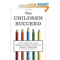 How Children Succeed: Grit, Curiosity, and the Hidden Power of Character --  Excellent for both parents and educators!